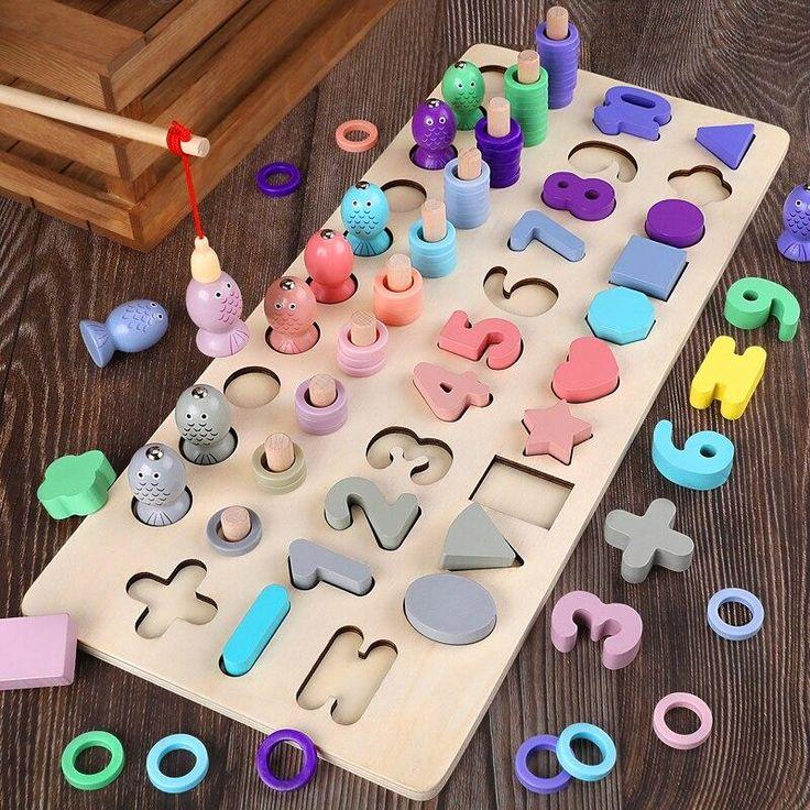 Montessori Jeu En Bois De Pêche Magnétique   Kidyhome tout Les Jeux Educatif