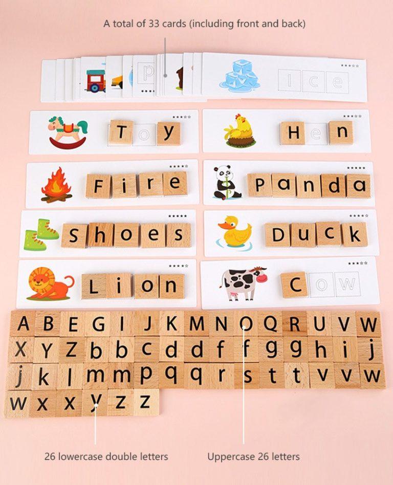 Montessori Mot Lettre Correspondant Jeu Domino dedans Domino Des Lettres