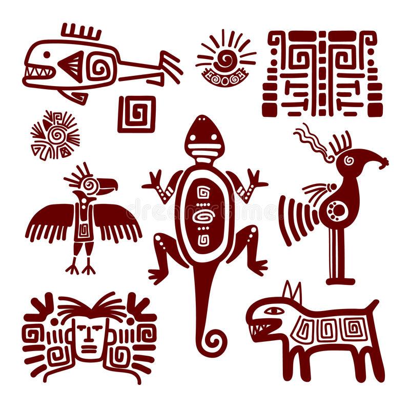 Motif Indien D'Art De Temple Illustration Stock dedans Signes Indiens