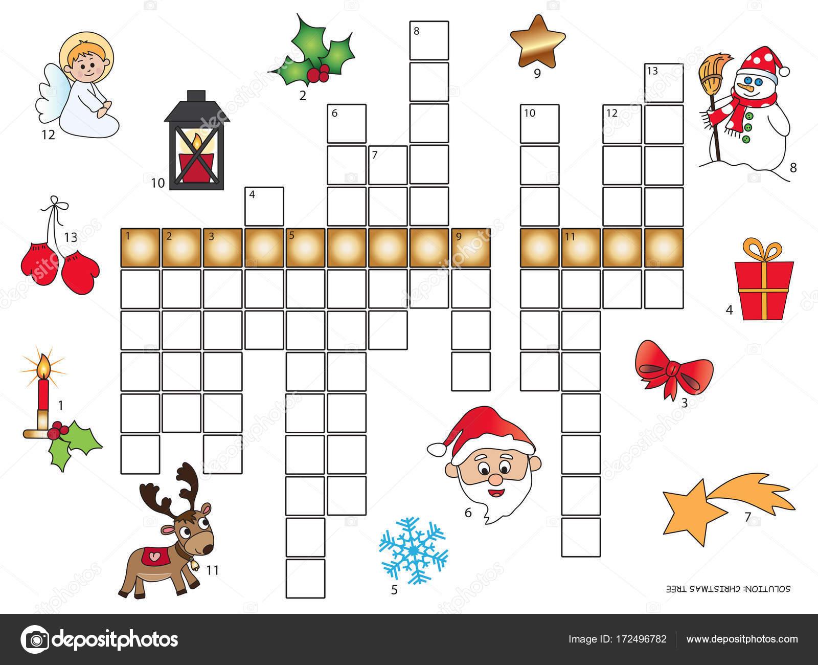 Mots Croisés De Noël Pour Les Enfants — Photographie pour Mots Croises Enfants
