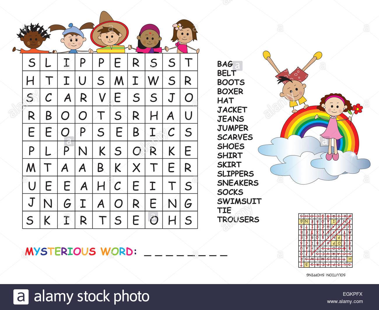 Mots Croises Pour Enfants - Primanyc destiné Mot Pour Enfant