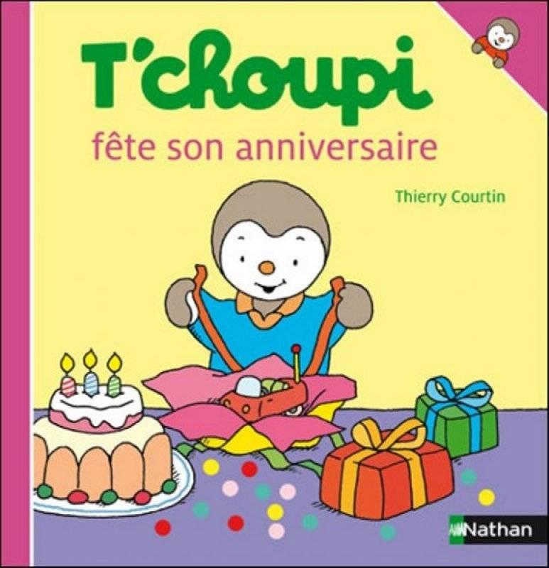 Nathan Livre - Tchoupi Fête Son Anniversaire, Livraison pour Coloriage De Tchoupi Et Doudou