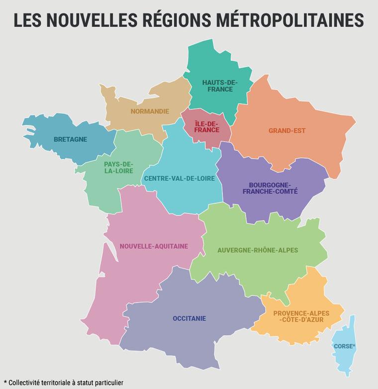 Nieuwe Namen Franse Regio'S: Wat Is Er Veranderd avec Region De France 2017