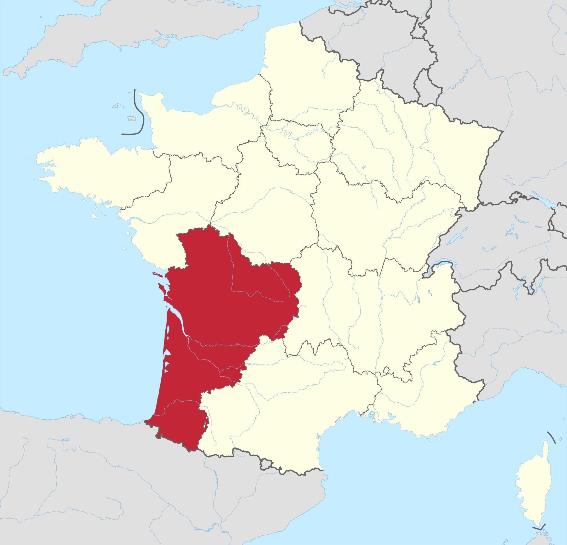 Nouvelle-Aquitaine - Wikipedia serapportantà Nouvelle Region France