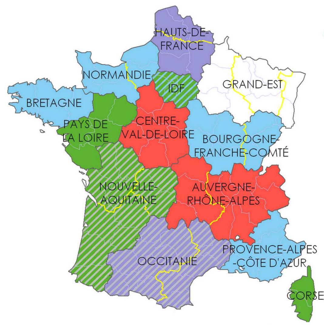 Nouvelle Carte Des France Des Dla D Et R 2017-2019 - Le à Region De France 2018