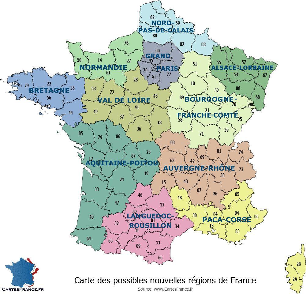 Nouvelle Carte Region De France | My Blog destiné Les Nouvelles Régions De France Et Leurs Départements