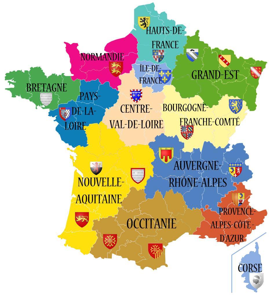 Nouvelle Carte Region De France   My Blog intérieur Liste Des Régions De France