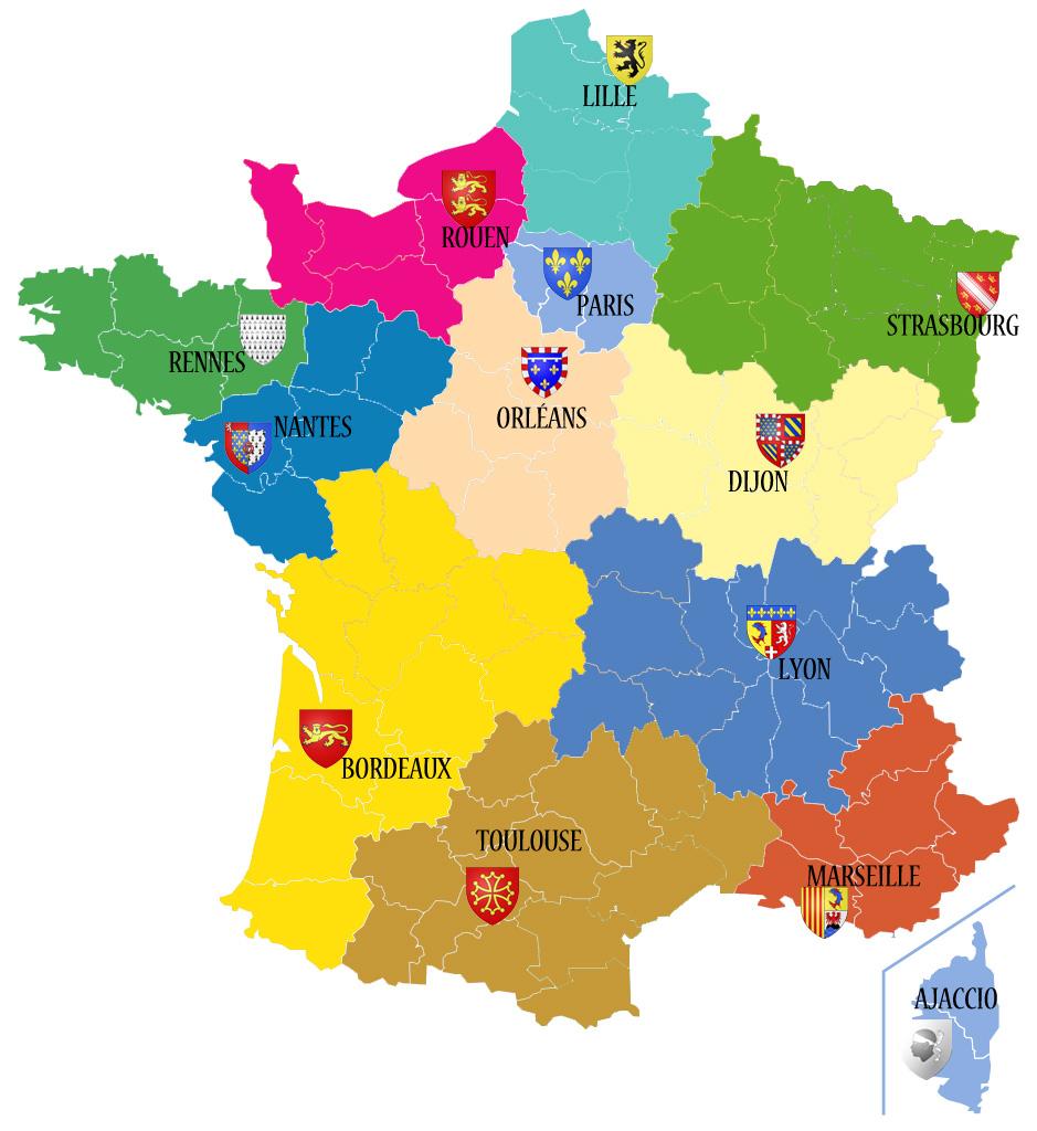 Nouvelles Régions De France » Vacances - Arts- Guides Voyages à Region De France 2018