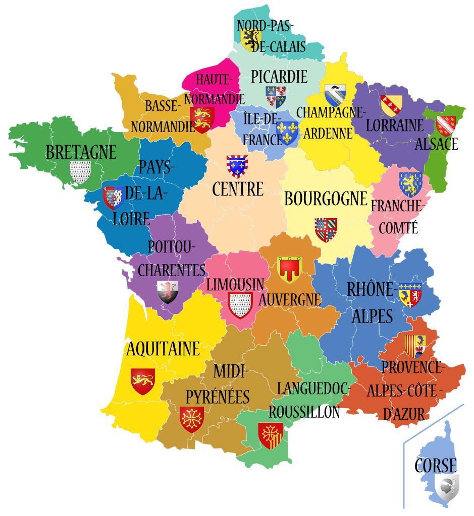 Nouvelles Régions Françaises » Vacances - Arts- Guides Voyages tout Region De France 2018
