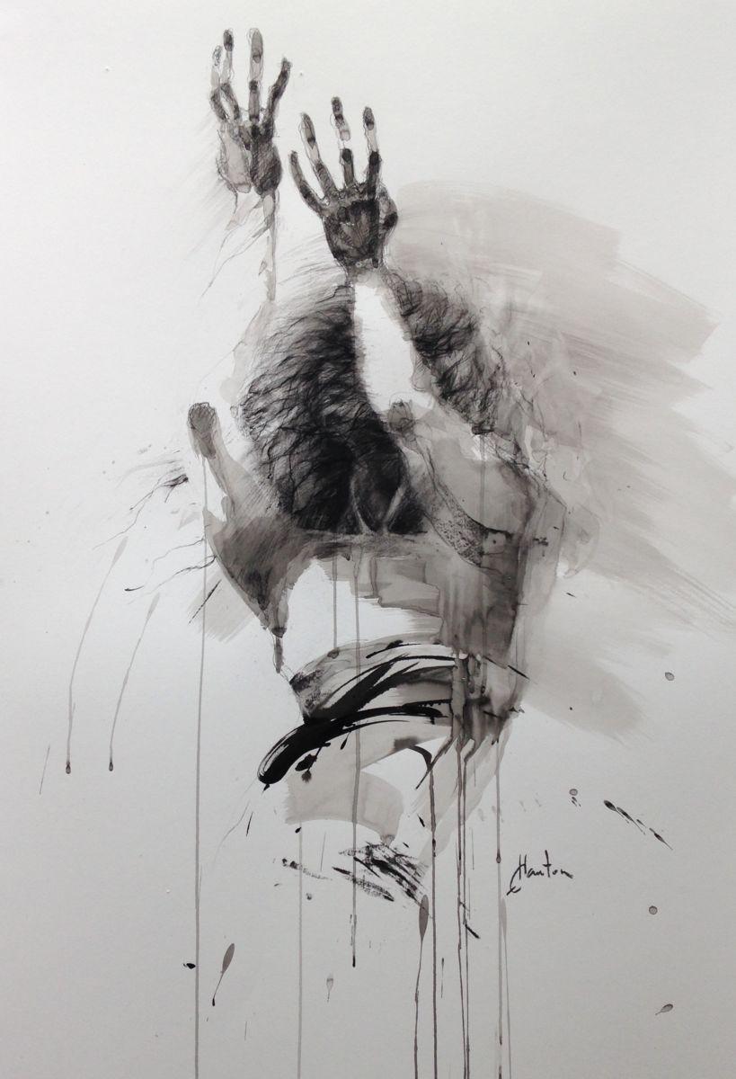 Ombre - Peinture, 70X100 Cm ©2016 Par Ewa Hauton encequiconcerne Dessin Artiste Peintre