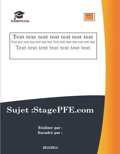 Page De Garde Professionnelle Pour Mémoire Gratuit dedans Modèle Page De Garde Word