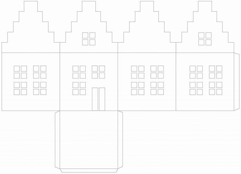 Patron Maison En Papier - Construire Patron Maison En serapportantà Patron De Maison En Papier A Imprimer