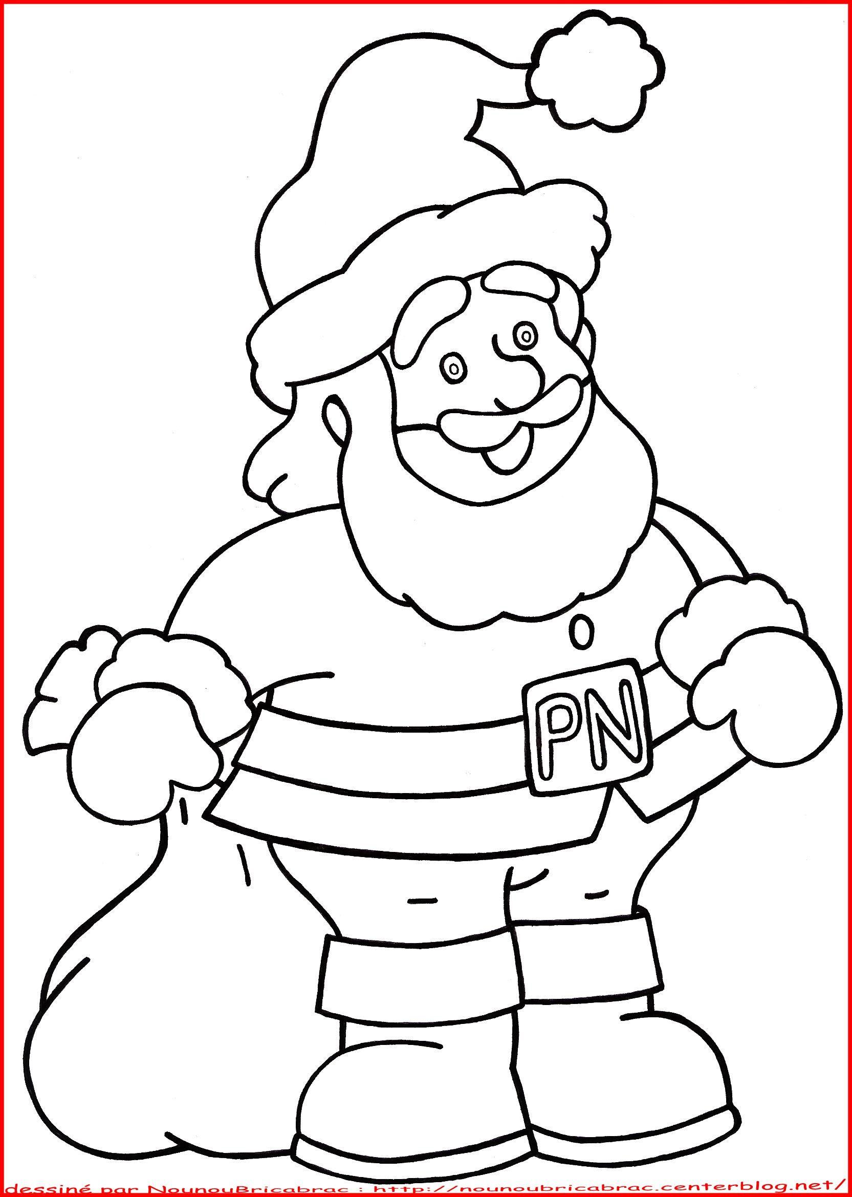 Père Noël À Colorier à Traineau Du Pere Noel A Colorier