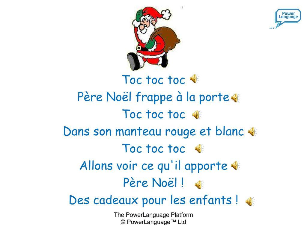 Père Noël Frappe À La Porte … - Ppt Télécharger Dedans concernant Le Père Noël Est Enrhumé Paroles