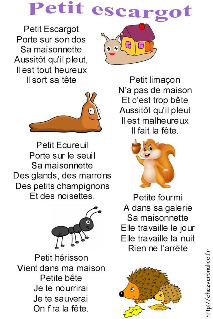 Petit Escargot Chanson Entière - Chez Veronalice En 2020 avec Paroles Comptines Maternelle