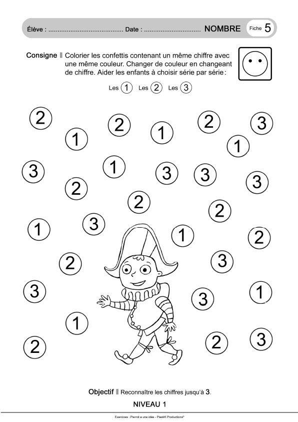 Petite Section | Pierrot, Ecole, Activite Enfant destiné Exercice Petite Section Gratuit