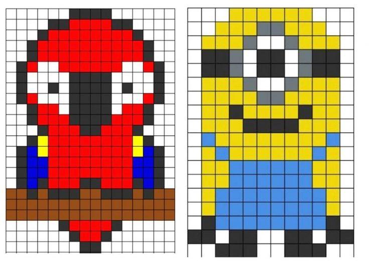 Pixel Art Grand Carreaux Avec Screenshot11 Et Pixel Art encequiconcerne Pixel A Colorier