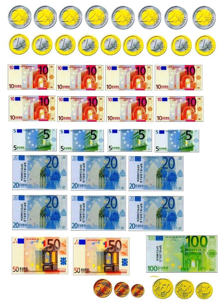 Planche À Découper: Les Euros - École Maternelle Gellow En dedans Pièces Euros À Imprimer