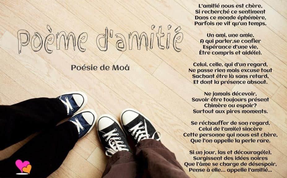 Poeme Amitie serapportantà Dessin De L Amitié