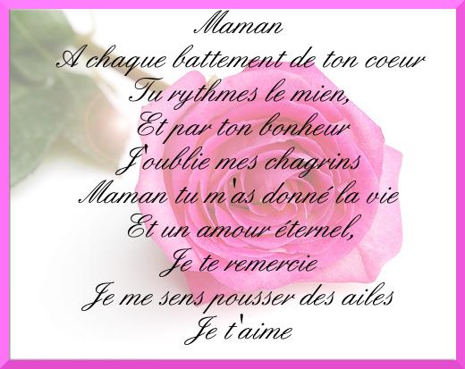 Poeme Anniversaire Maman encequiconcerne Poeme Belle Mere