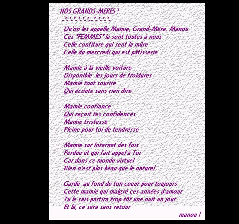 Poeme D'Anniversaire Pour Notre Mamie Fresh Le Bonheur D serapportantà Poeme Pour Ma Mere