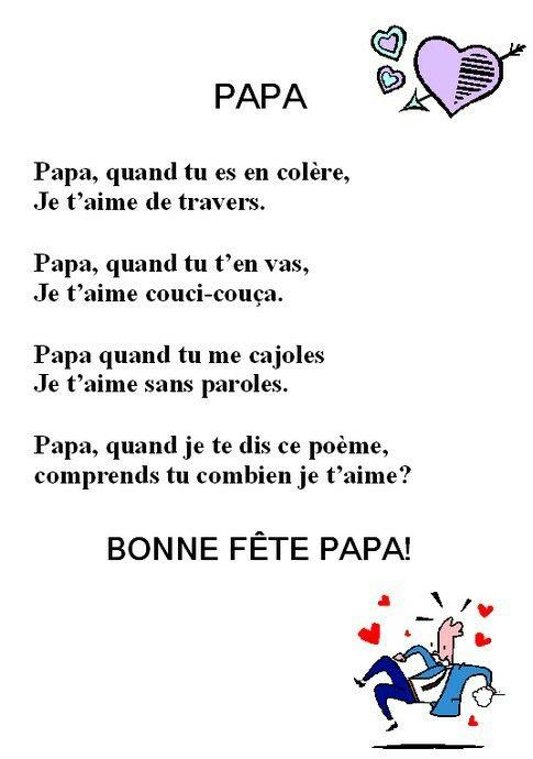 Poème Fête Des Pères | Poème Fête Des Pères, Idée Fete Des concernant Poeme Anniversaire Grand Pere