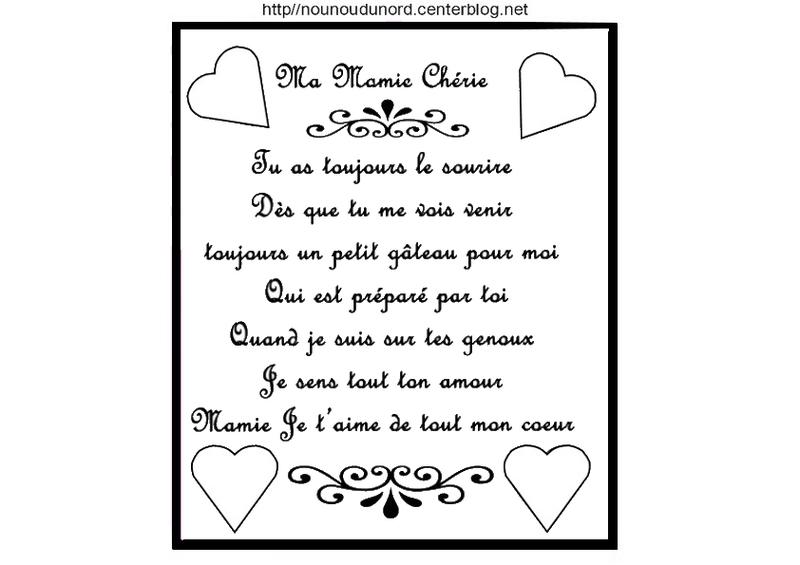 Poeme Mamie concernant Petit Poeme Pour Nounou