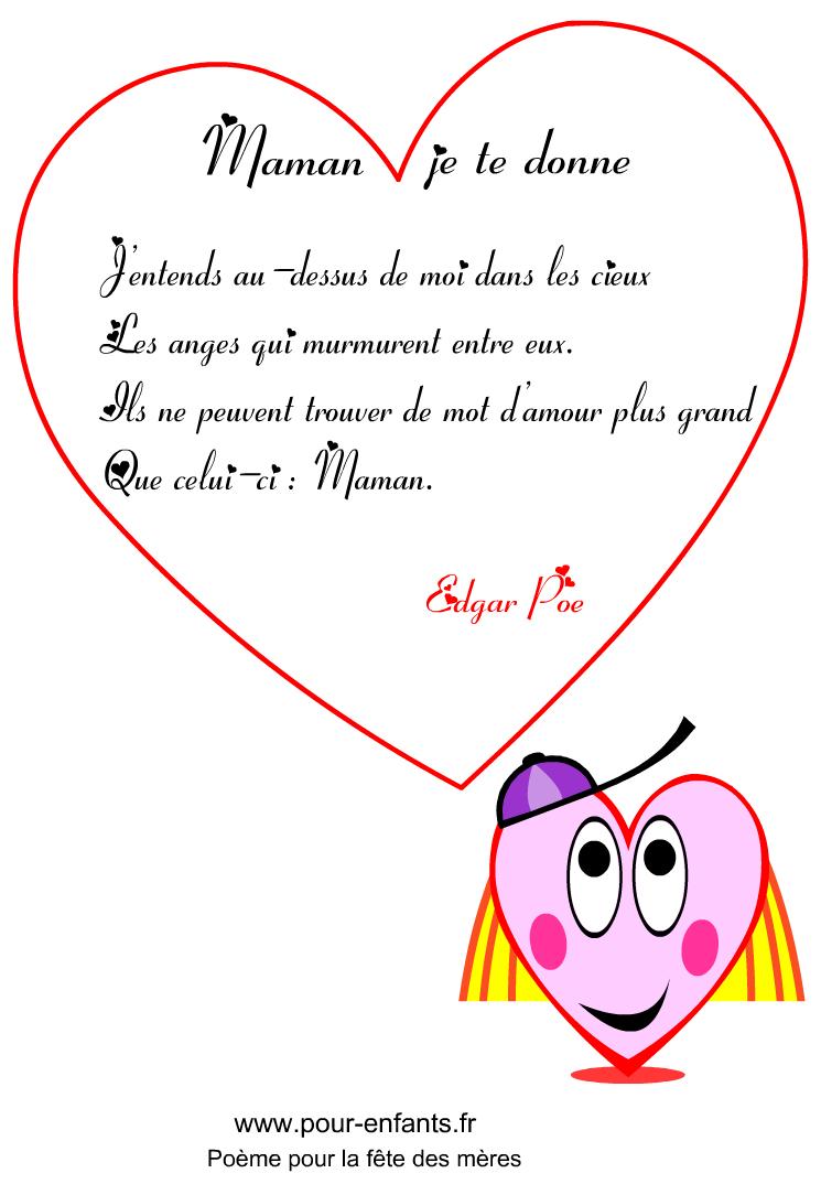 Poeme Pour Maman à Court Poeme
