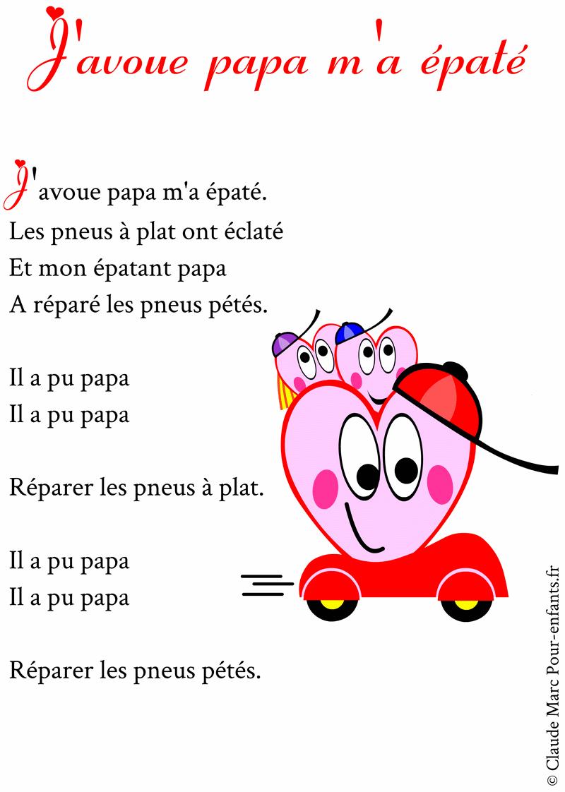Poème Pour Papa À Imprimer Poemes Fete Des Papas Humour dedans Poeme Pour Papa De Coeur