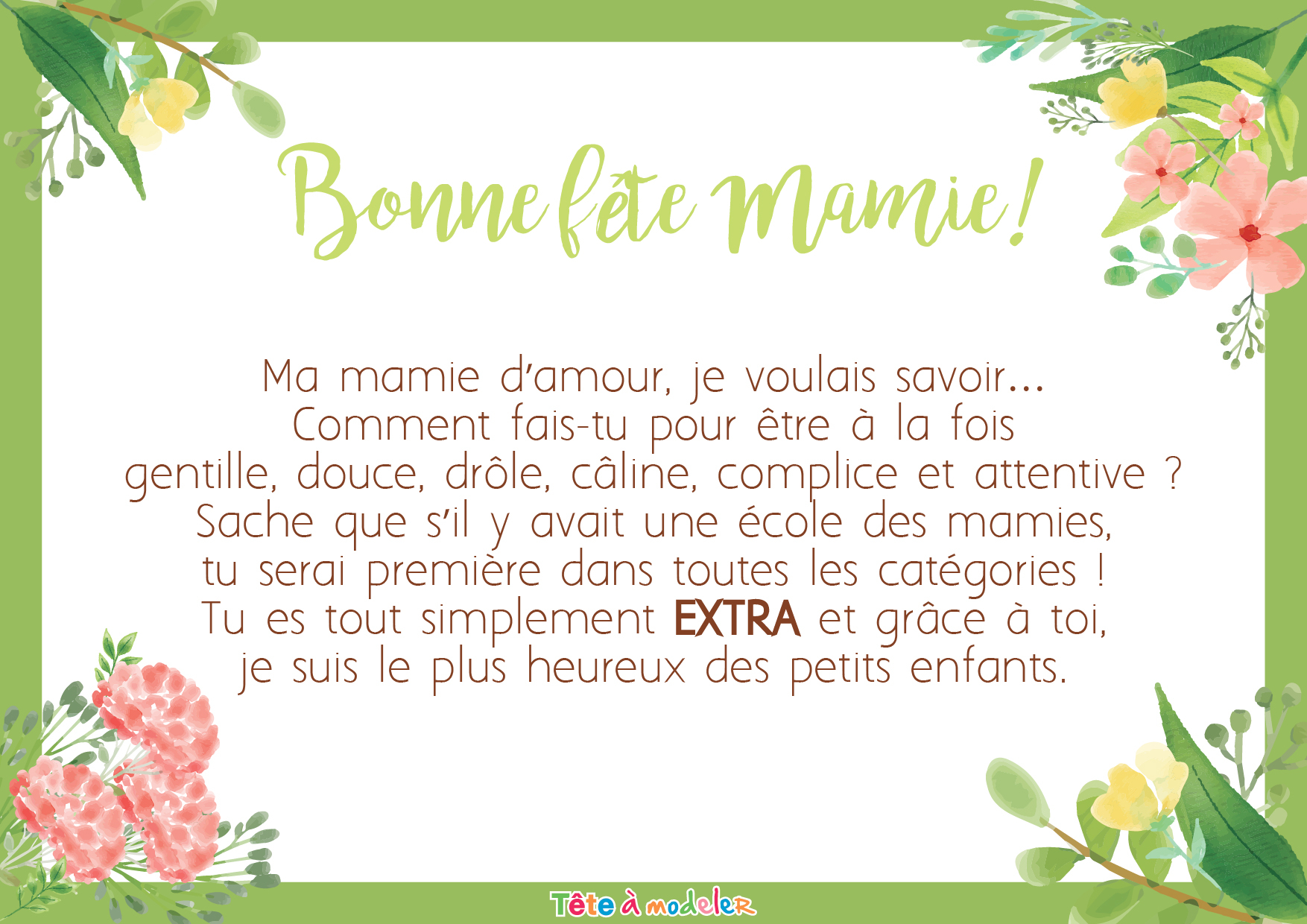 Poeme Une Mamie C'Est concernant Poeme D Enfant