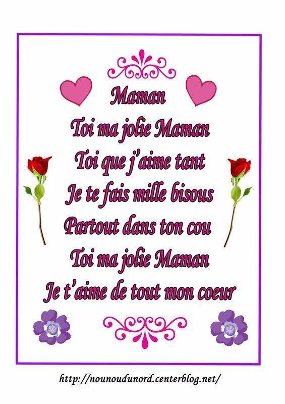 Poemes Fete Des Meres Mamies pour Petit Poeme Pour Nounou