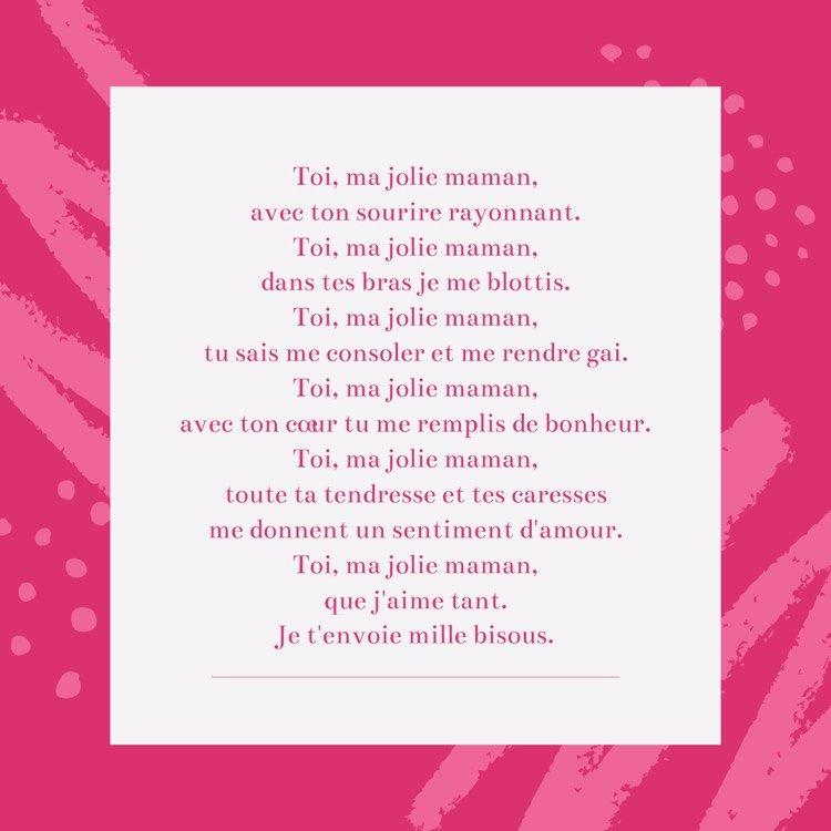 Poèmes Fête Des Mères Maternelle À Télécharger Gratuit tout Poeme Fete Des Mere