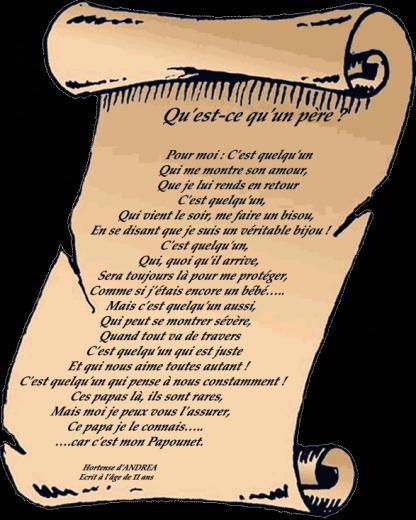 Poèmes Fete Des Peres - Mon Papa Papounet pour Poeme Pour Maman Et Papa