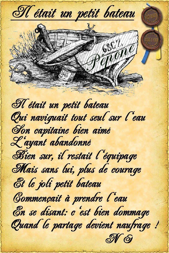 Poemes tout Parole Maman Les Petit Bateau