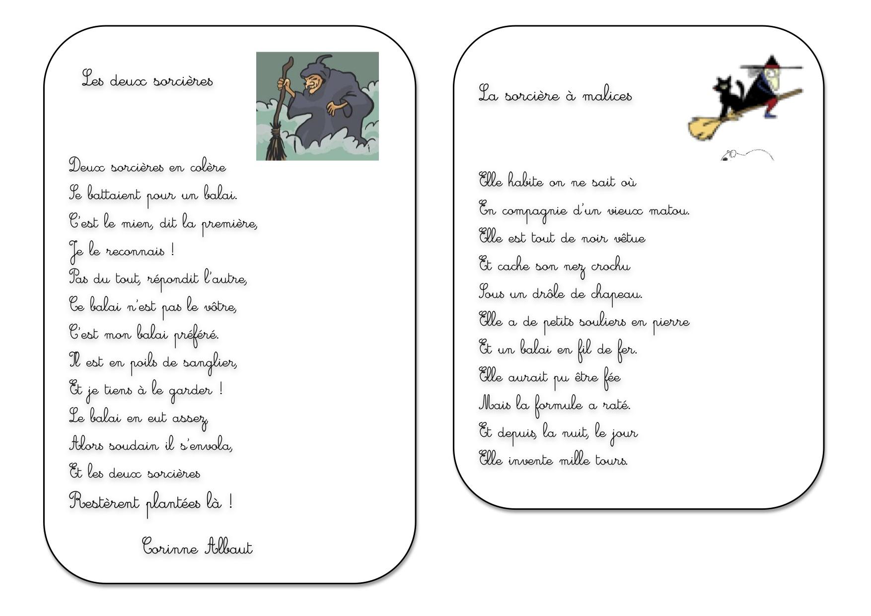 Poesie A L'Ecole Des Sorcieres destiné Poésie Point De Chute