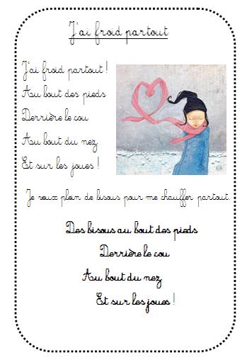 Poésie De L'Hiver - La Maternelle De Vivi concernant Comptine Bonne Année Maternelle