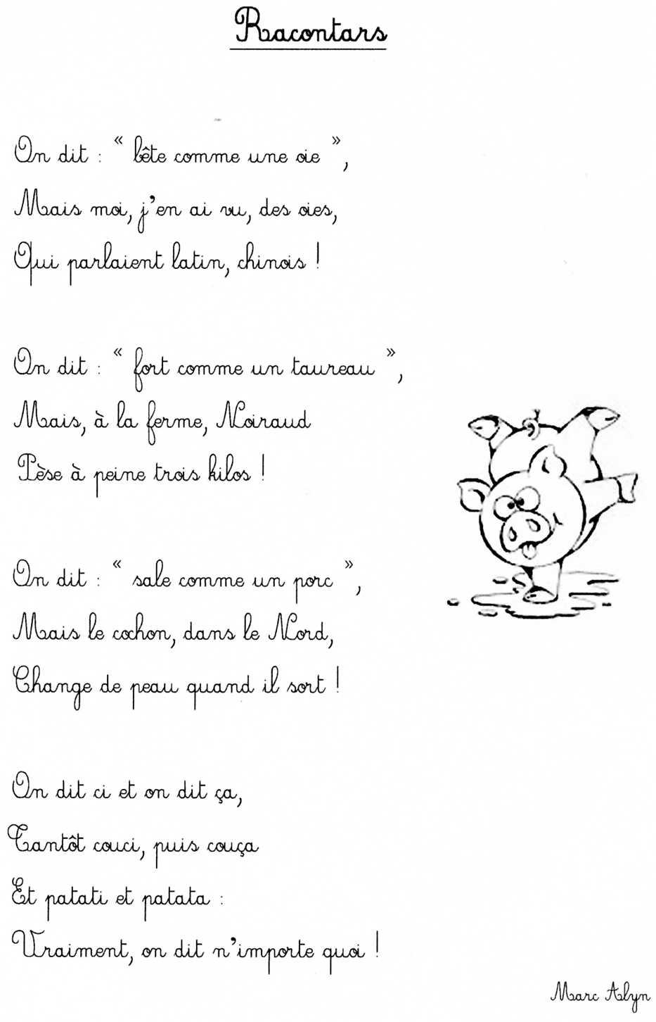 Poesie Ecole Primaire à Poeme D Enfant