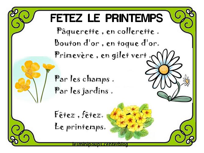 Poesie Printemps Maternelle tout Poésie Le Printemps