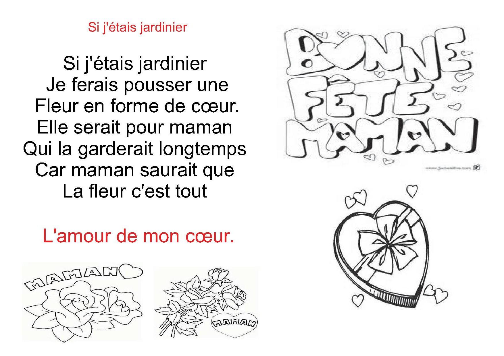 Poésies: Poémes Pour Le Fête Des Mères,La Fête Des Mamans serapportantà Poeme Pour Fete Des Mere