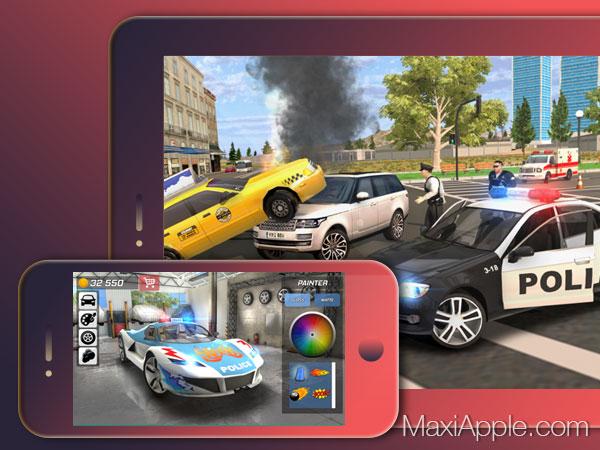 Police Car Chase Iphone Ipad - Jeu De Course Poursuite En avec Jeu De Voiture De Police Gratuit