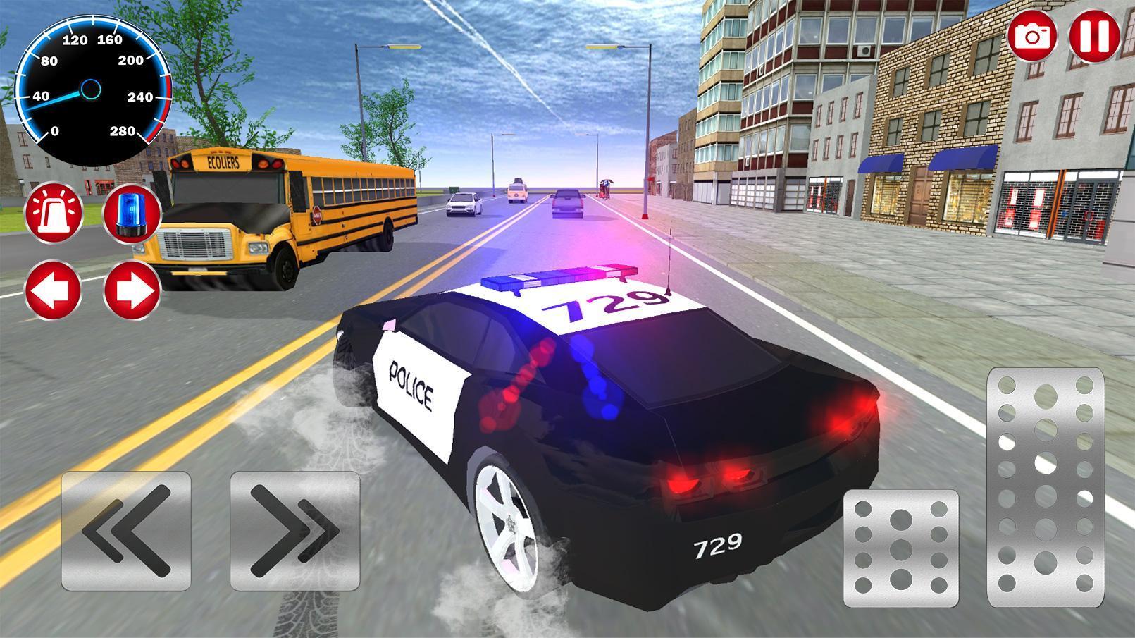 Police Et Voiture Simulateur De Jeu 3D Pour Android destiné Jeu De Voiture De Police Gratuit