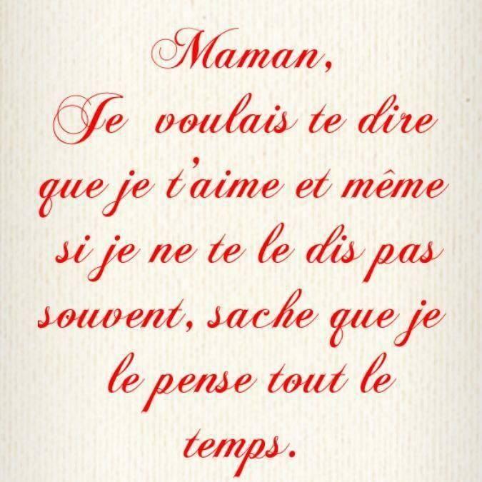 Pour Toi Maman. !!!   Maman Citation, Je Pense À Toi Et avec Pour Ma Maman