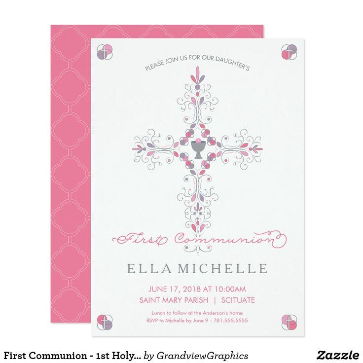 Première Communion - ?Ère Invitation De Sainte   Zazzle.fr avec Invitation Originale Communion