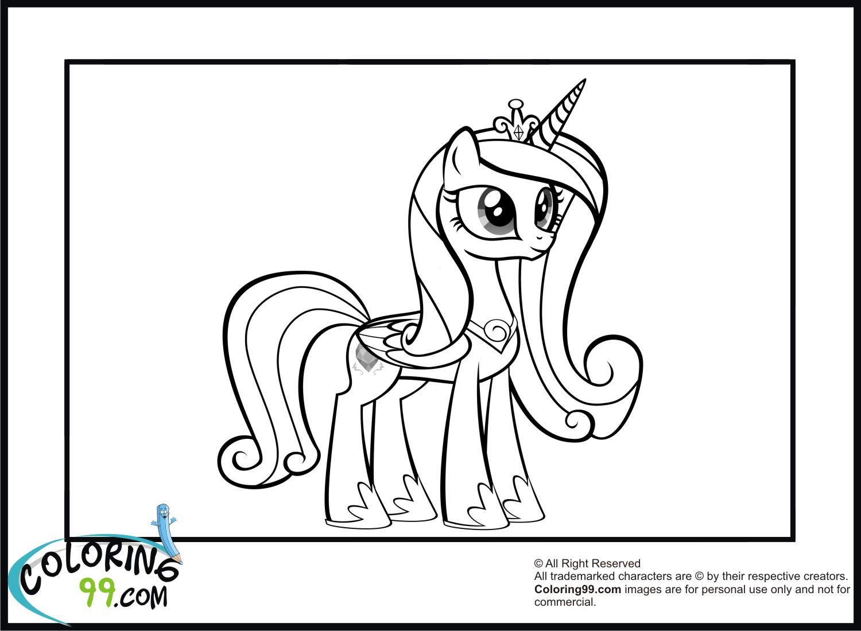 Princess Cadence Coloring Pages | Team Colors encequiconcerne Coloriage De My Little Pony Princesse Cadance
