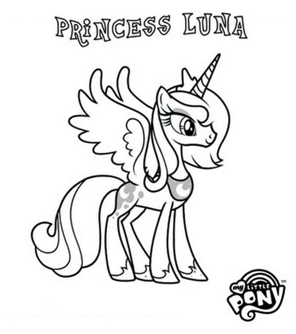 Princess Luna In My Little Pony Coloring Page - Download à Coloriage De My Little Pony Princesse Cadance