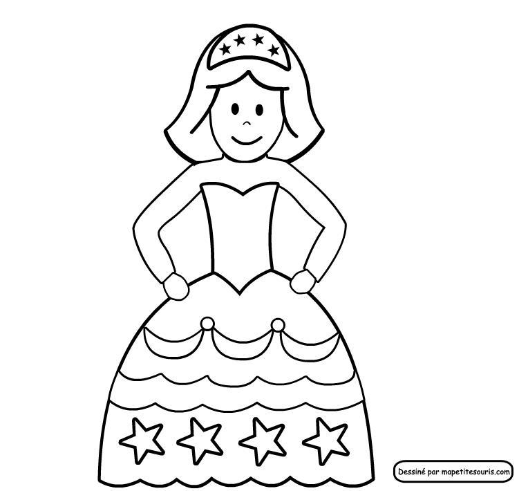 Princesse Pour Portrait Royal tout Princesse À Dessiner
