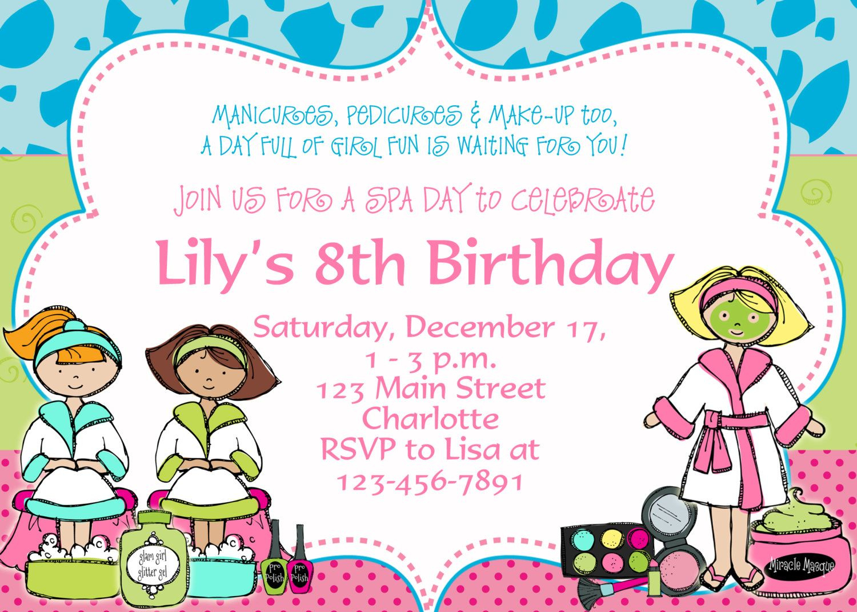 Printable Spa Birthday Party Invitations | Spa, Undangan à Salon Be Happy Invitation