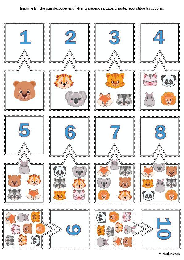 Puzzle Des Nombres   Jeux A Imprimer, Jeux Éducatifs avec Jeux D Ecole Maternelle Gratuit