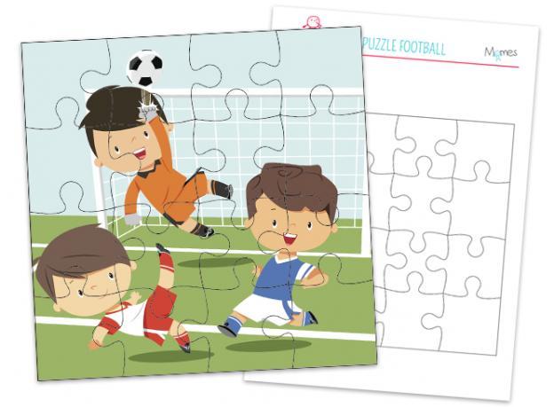 Puzzle Football À Imprimer | Jeux A Imprimer, Bricolage tout Puzzle Gratuit Facile