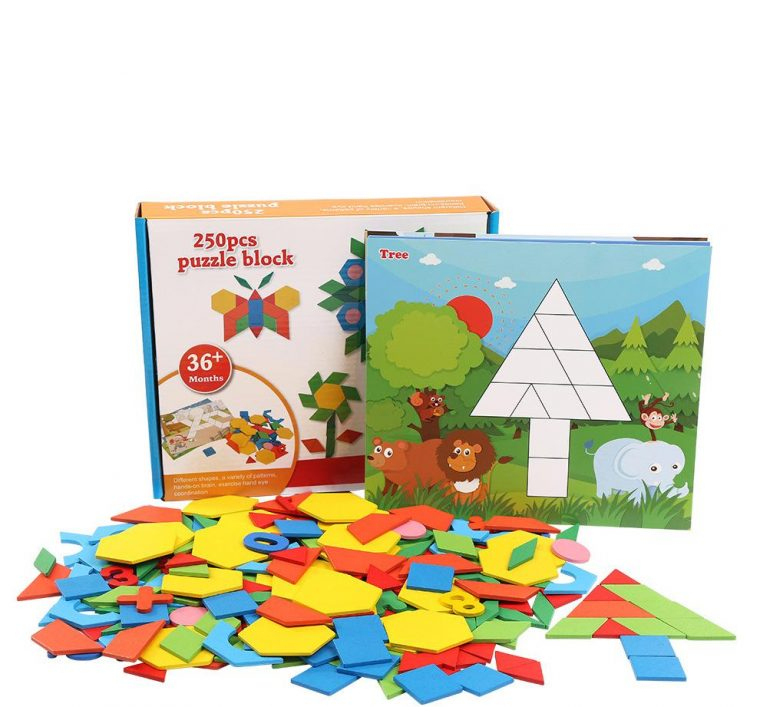 Puzzle Géométrique Pour Enfants, Puzzle, Jouets En Bois concernant Puzzle Gratuit Pour Fille De 3 Ans